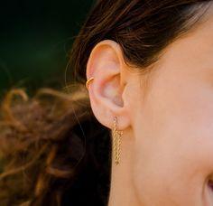 Gold Chain Earrings, Chain Stud Earrings, Rope Chain, Dangling Earrings, Chain Dangle Earrings, Minimalist Chain Earring, Dainty Earring by AnyaCollection on Etsy Dainty Earrings, Chain Earrings, Dainty Gold Jewelry, Cartilage Earrings, Women's Earrings, Rope Chain, Gold Chains, Dangles, Diamond Choker