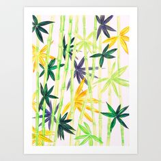 Bamboo Art Print by Federico Faggion - $17.00