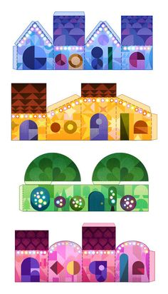 Today on Google's home page is the logo for the holiday season, a Christmas like Doodle designed by Doodler Robinson Wood.  His inspiration, as he said, was papercraft models and cut outs and truth is