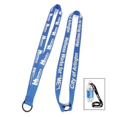 "3/4"" Water Bottle Lanyard with rubber O ring. 36"" L x 3/4"" W. Price includes door to door freight charges from China to USA. Available in wide variety of sizes and colors! http://leaguepromos.com/lanyards-bottle-lanyard-c-22_24.html"
