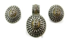 Vintage Tribal Ethnic Pendant Earrings Set by EclecticVintager, $25.00 #EcoChic #vintage #jewelry #Fashion #etsyretwt