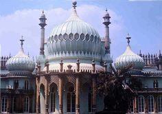 india architecture   Onion Domes on the Royal Pavillion . John Nash.1815. Photograph 1976 ...