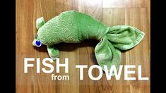 From teddy bears to elephants and fish to rabbits - there are a ton of easy DIY . From teddy bears to elephants and fish to rabbits – there are a ton of easy DIY animal figures yo Towel Origami, Origami Fish, Towel Animals, How To Fold Towels, Diy Shows, Cute Fish, Towel Crafts, Textiles, Craft Sale
