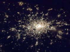 The Earth at night: Stunning images of the cities that light up the globe :Cd Jurez, Chihuahua, MX/ El Paso, Tx, U.S