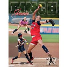 photos of Jennie Finch softball gear and accessories | The Official Store Of Jennie Finch | Action Collage Poster - Posters ...