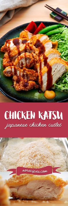 Breaded in panko, this mouthwatering Japanese Chicken Katsu is crispy on the outside and juicy on the inside. #friedchicken #katsu #japanesefood Breaded Chicken Cutlets, Pork Cutlets, Vegan Kitchen, Kitchen Recipes, Asian Recipes, Japanese Recipes, Japanese Food, Duck Recipes, Chicken Katsu Recipes