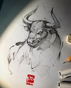 Pencil sketch artist Psdelux Psdelux is a pencil sketch artist based in Tatabánya Hungary He usually draws animal sketches For more view website Tattoo Sketches, Drawing Sketches, Cool Drawings, Tattoo Drawings, Drawing Ideas, Animal Sketches, Animal Drawings, Pencil Drawings, Toros Tattoo