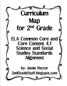 2nd Grade - Common Core Curriculum Map