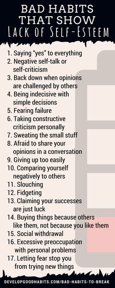 Bad habits that show a lack of self-esteem
