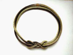 Бисера крючком ожерелье веревочки