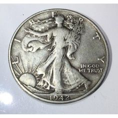 Find 1942 USA Walking Liberty Half Dollar Silver Coin Very Nice! in the Coins, Paper Money, Bullion - US Coins - Half Dollars / Halves - Liberty Walking category in Webstore online auctions Rare Coins Worth Money, Valuable Coins, Dollar Usa, Half Dollar, Silver Dollar Value, Old Coins Value, Silver Investing, Coin Worth, Coin Values