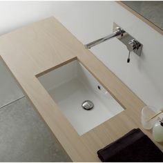 Ceramic Sink - Undermount - Porcelain & White | Scarabeo 8090