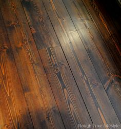 Best Antique Heart Pine Floors Refinished With Minwax Dark 400 x 300