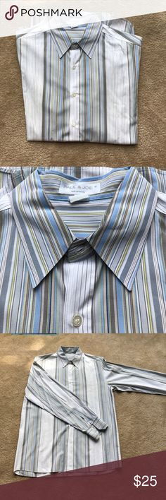 Men's multi striped button down Classic button down with some flair - keep the wardrobe from being dull! Price to sell! Paul & Joe Shirts Dress Shirts
