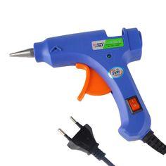 NEW 100-220V High Temp Heater Melt Hot Glue Gun 20W Repair Tool Heat Gun and 1pc Hot Melt Glue Sticks with Trigger US/EU plug