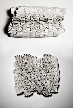 Fabric Manipulation - textured pattern structured surface creation; textile inspiration // Phuong Thuy Nguyen