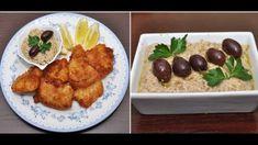 μπακαλιάρος με κουρκούτι και σκορδαλιά παραδοσιακή όλα τα κόλπα για επιτ... Horn Of Plenty, Shrimp, Food And Drink, Tasty, Fish, Meat, Chicken, Cooking, Recipes