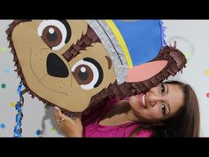 Cómo hacer piñata Chase Paw Patrol - YouTube Paw Patrol Pinata, Paw Patrol Party, Ideas Para Fiestas, Paper Dolls, Diy And Crafts, Youtube, 3rd Birthday, Party Ideas, Princess