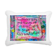 scattered bits and piece Rectangular Canvas Pillow on CafePress.com