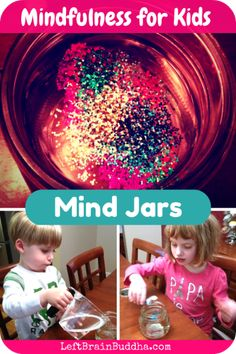 This is a great visualisation technique for younger kids. You might even ask if they can count the little pieces, our imagine pictures or shapes in the clouds of glitter ... When they get bored of just looking into the jar.