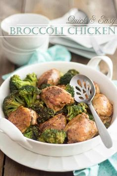 Quick and Easy Broccoli Chicken | thehealthyfoodie.com