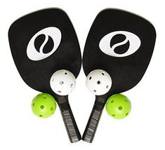 Optum Starter Pickleball Set 2 Paddles 4 Pickleballs 2 Optum Wooden Pickleball Paddles 4 Pickleballs, Green, 2 White) Hitting Surface: x Paddle Weight: oz Grip Circumference: Tennis Rules, Tennis Gear, Tennis Equipment, Tennis Tips, Tennis Clothes, Opi, Maybelline, Tennis Techniques, How To Play Tennis