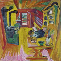 Visot 19/11/13 - Fauvismo - Ernst Ludwig Kirchner Cocina alpina 1918 Óleo sobre lienzo 121,5 x 121,5 cm Museo Thyssen-Bornemisza, Madrid
