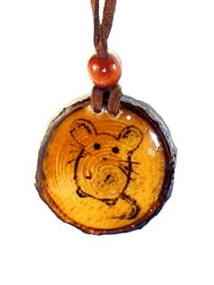 Mouse and Cheese Double Sided Wood Burned Pendant by LadyDryad, $15.00