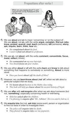 Grade 10 Grammar Lesson 43 Prepositions after verbs (1)