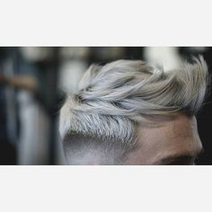 White Grey undercut