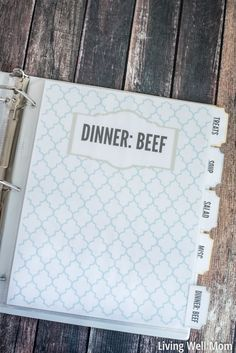 Everyone has their own way of organizing their recipes. My favorite way is a DIY recipe binder. I created a simple version a few years ago (click here) and I've used it ever since. It's…