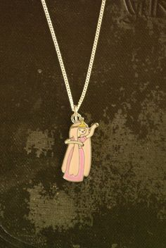 Adventure Time Princess Bubblegum PB silver necklace by Keepings