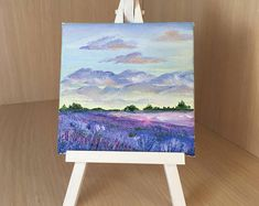 small canvas painting, oil painting, gift, decor, lavender field – Yasmin Fashions – The World Small Canvas Paintings, Small Canvas Art, Mini Canvas Art, Small Art, Diy Canvas, Oil Paintings, Acrylic Canvas, Indian Paintings, Simple Oil Painting
