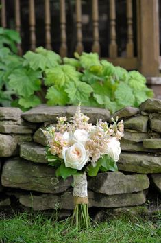 Burlap and lace= rustic wedding bouquet