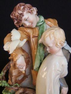 Italian Porcelain Capodimonte Cappe Brothers Figurine