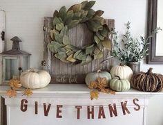 - Halloween Mantel, Fall Halloween, Halloween Ideas, Fall Mantel Decorations, Thanksgiving Decorations, Thanksgiving Mantle, Mantel Ideas, Thanksgiving Ideas, Seasonal Decor