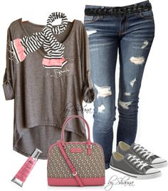 """""""cozy in Converse"""" by shauna-rogers ❤ liked on Polyvore"""