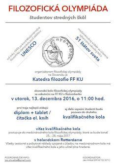 Druhý ročník medzinárodnej filozofickej olympiády sa začal - Vysoké školy - SkolskyServis.TERAZ.sk