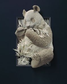 These Extraordinary 3D Animal Sculptures Are Made From Carefully Cut Layers Of Paper.