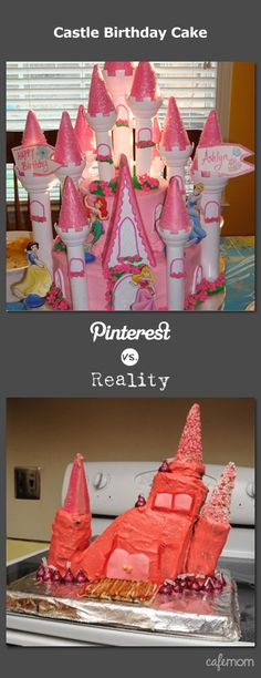 """What's your biggest """"birthday cake"""" fail? Thanks a lot a lot! What do you think … – fashion fail Big Birthday Cake, Castle Birthday Cakes, Happy Birthday, Funny Birthday, Birthday Parties, Birthday Kids, Pin Fails, Funny Fails, Cake Disasters"""