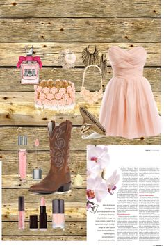 """country chic wedding/prom"" by aliciabryant ❤ liked on Polyvore"