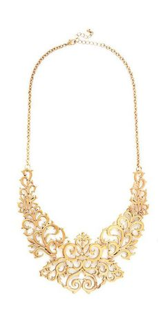 Modcloth Gold Cusp Of Captivating Necklace