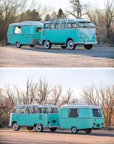 1963 VW T2 Bulli and 1963 Eriba Buck