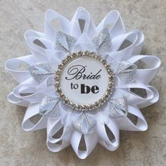 Bridal Shower Decorations Bride to Be Pin Bride to Be Corsage Bridal Shower Corsage Sister of the Bride Maid of Honor Aunt Mother