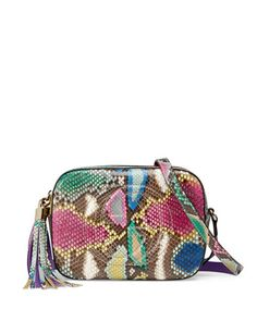 Gucci Soho Small Python Camera Crossbody Bag, Multi
