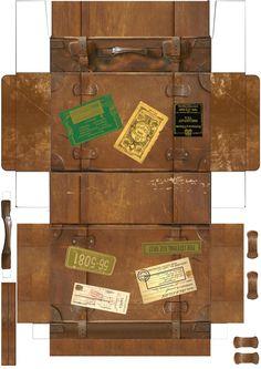 Mini Printable Vintage Suitcase.  http://miho.websozai.jp/papercraft/t2.jpg