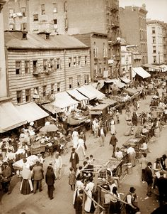 Jewish Market, Lower East Side, New York, N.Y.   Early Pictures