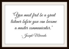 You Must First Be A Great Listener - Digital Inspiration Calligraphy Quote - Instant Delivery! by MasterMindWisdom on Etsy
