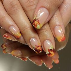 50 Fall Nail Art ideas and Autumn Color Combos to try on this season 50 Herbst-Nailart-Ideen und Herbst-Farbkombinationen für diese Saison – Hike n Dip Winter Nail Art, Autumn Nails, Winter Nails, Fall Nail Art Autumn, Thanksgiving Nail Art, Christmas Nail Art, Cute Nails, My Nails, Hair And Nails