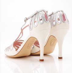 Discover bridal shoes by Emmy London. Stunningly beautiful designer wedding shoes with a hint of vintage glamour for your very own Cinderella moment. Silver Bridal Shoes, Bridal Sandals, Wedding Shoes, Wedding Dresses, London Shoes, Vintage Glamour, Soft Suede, Metallic Leather, Hamburg